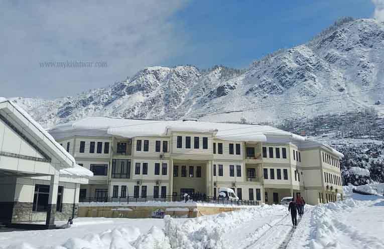 DC Office Kishtwar in winters